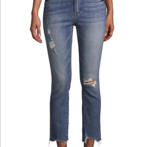 Blank NYC Cropped Destroyed Raw Hem Jeans 29
